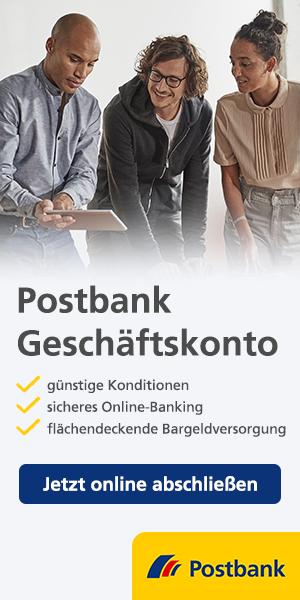 Postbank Business Giro - das digitale Konto mit Büro-App. Jetzt 6 Monate ohne Kontoführungsentgelt